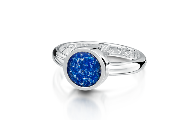 Tribute Ring Silver Blue